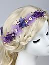 Femei Material Textil Diadema-Nuntă Ocazie specială Exterior Cordeluțe Piepteni de Păr Ac de Păr 4 Piese