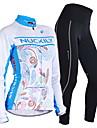 NUCKILY® Cykeltröja och tights Dam / Herr Lång ärm CykelAndningsfunktion / Håller värmen / Vindtät / Anatomisk design / Fleecefoder /