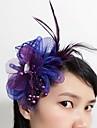 Women\'s Feather / Tulle / Net Headpiece-Wedding / Special Occasion Fascinators 1 Piece
