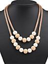 Dame Coliere Layered Κολιέ με Πέρλες Coliere Perle Aliaj La modă Declaratie de bijuterii Auriu Bijuterii Ocazie specială Zi de Naștere