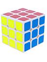 Cube de vitesse lisse 3*3*3 Vitesse Cubes magiques Blanc / Noir PVC / ABS