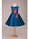 Lanting Bride ® Ball Gown Short / Mini Flower Girl Dress - Lace / Satin Sleeveless Jewel with
