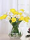 10 Une succursale Polyurethane Calla Lily Fleur de Table Fleurs artificielles