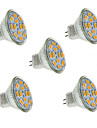 5W GU4(MR11) LED-spotlights MR11 12 SMD 5730 560 lm Varmvit / Kallvit Dekorativ DC 12 V 5 st