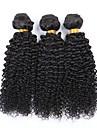 """10 """"-26"""" naturligt svart 6a brasiliansk lockigt hår väva 4st / lot 100% obearbetade peruanska jungfru kinky lockigt hår"""