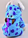 Chat Chien Costume Pulls a capuche Combinaison-pantalon Bleu Vetements pour Chien Hiver Printemps/Automne Dessin-Anime Mignon Cosplay