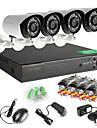 4 st AHD kamera 4ch 720p DVR utomhus hemmavideo säkerhet kamerasystem