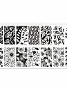 theme des fleurs nail art stamp image modele plaque rctangular estampage plaques ne jolie