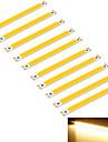 youoklight® 10pcs 10w 950lm pise 1-conduit chaud bande de rectangle 3000k blanc (dc 12 ~ 14v)