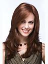 mulheres 24inch capless longo corpo onda sintetica perucas de cabelo estrondo lado marrom mel com rede de cabelo gratuito