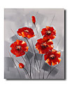 Dipinta a mano Floreale/BotanicalModern / Classico / Realismo / Mediterraneo / Pastorale / Stile europeo Un Pannello TelaHang-Dipinto ad