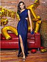 ts couture® formell kveld kjole skjede / kolonne en skulder fotsid strikke med