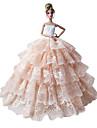 Prinsessa Klänningar För Barbie Doll Rosa Klänningar