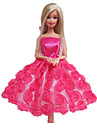 Princesse Robes Pour Poupee Barbie Fuchsia Robes Pour Fille de Doll Toy