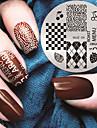 2016 dernier modele de la mode version lettres anglaises nail art plaques de modele d\'image d\'estampage