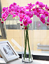 1 Gren Silke Orkidéer Bordsblomma Konstgjorda blommor