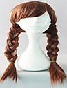 인기 kniting 코스프레 가발 파티 가발 갈색 직조 만화 가발 20 인치 직선 애니메이션 합성 머리 가발