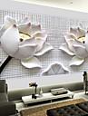 skinande läder effekt stor väggmålning tapeter 3d lotus konstväggdekor för vardagsrummet tv soaf bakgrund
