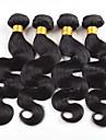 4bundles 200g brasilianska jungfru hår förkroppsligar vinkar människohår väver naturligt svart hår 8-26 tum varm försäljning