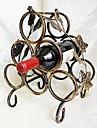fier continental rack de vin retro șase sticle de stocare rack de vin de bronz titular Wijn sticlă agățat vin de fier