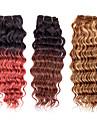 3pcs / lot 113g / st, ombre färgrik 7a 100% jungfruligt brasilianskt människohår väver buntar hårweft, nya djup våg