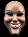 Mask Cosplay Festival/Högtid Halloween Kostymer Beige Tryck Mask Halloween Unisex