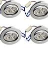 3W Infälld glödlampa 3 Högeffekts-LED 300 lm Varmvit Dekorativ AC 85-265 V 4 st