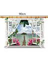 Romance Mode Paysage Stickers muraux Autocollants muraux 3D Autocollants muraux decoratifs Materiel Amovible Decoration d\'interieurCalque