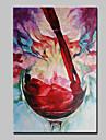 handgjorda modern rött vin glassoil målning på duk väggkonst bilden för vardagsrummet dugg ram redo att hänga