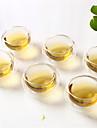 6-pack högtemperaturbeständig glas med dubbla lager glas tekopp kung fu te te kopp isolering 50ml