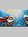 Peint a la main Abstrait / Paysage / Paysages Abstraits / Portraits AbstraitsModern Un Panneau Toile Peinture a l\'huile Hang-peint For