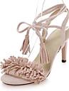 Sandaalit-Piikkikorko-Naisten kengät-Tekonahka-Musta / Pinkki / Punainen / Harmaa-Puku / Rento-Avokärkiset