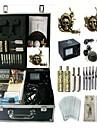 kit de tatouage basekey la machine jhk0114 4 machines avec poignees d\'alimentation de nettoyage des aiguilles d\'encre brosse
