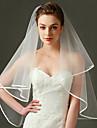 Wedding Veil One-tier Elbow Veils Ribbon Edge