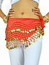 Belly Dance Belt Women\'s Training Chiffon Beading / Coins 1 Piece Black / Blue / Fuchsia / Orange / Pink / Purple / YellowBelly Dance /