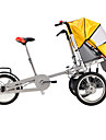 Folding Cyklar Cykelsport 16 inch Herr / Kvinnors / Unisex barn Dubbel skivbroms Vanlig Viker Vanlig Stål Röd / Gul / Blå