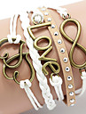 Armband Läder Armband Armband av Remmar Läder Kärlek Hjärta initiala smycken Inspirerande Bröllop Party Dagligen Casual Sport Julklappar