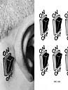 HC-Tatueringsklistermärken-Waterproof-Annat- tillDam / Herr / Vuxen-Svart-PVC-1pcs- styck10.5*6cm-Switch Button