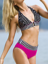 Women\'s Sexy Halter Polka Dot Spliced Bikini Set