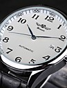 WINNER® Men's Classic Auto Mechanical Black Leather Band Wrist Watch Cool Watch Unique Watch Fashion Watch