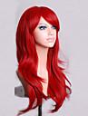 Peluca de seda de alta temperatura volumen rizado 70 cm de largo pelo rojo de aire
