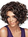 kvinnor afro brunt lockigt syntetiskt hår peruk