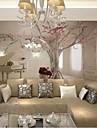 vardagsrum modern 3d skinande läder effekt stor väggmålning tapeter piano och träd konst väggdekor