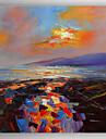 Peint a la main Abstrait / Paysages AbstraitsModern Un Panneau Toile Peinture a l\'huile Hang-peint For Decoration d\'interieur