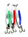 Hengjia 5pcs Shiny Spoon Metal Fishing Lures 86mm 18g Spinner Baits Random Colors