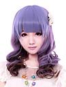 Perruques de lolita Doux Degrade de Couleur Moyen / Boucle Violet Perruques de Lolita 43 CM Perruques de Cosplay Mosaique Perruque Pour