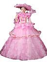 One-piece/Klänningar Gothic Lolita Steampunk® / Victoriansk Cosplay Lolita Klänning Rosa Tryck / Blommig / Spets Lång ärm Lång längd Hatt