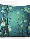 1 pcs Lin Taie d\'oreiller,Fleur Nouveaute Decoratif Moderne/Contemporain Retro Bureau / Affaires Traditionnel/Classique