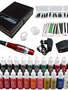 Solong tatuering permanent makeup kit tatuering penna ögonbryn läpp maskinen inställd 23 makeup bläck ek707-5