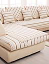 coton / lin vieux grossiers antiderapante mode slipcover coussin de canape quatre saisons tissu raye beige
